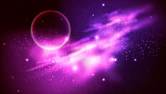 绚丽抽象的银河背景矢量素材(AI/EPS)
