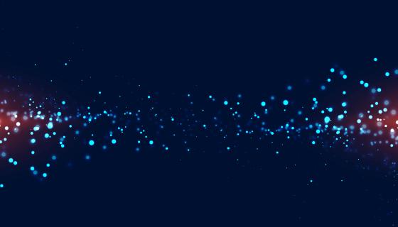 蓝色粒子发光背景矢量素材(EPS)