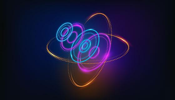 抽象未来感全息图背景矢量素材(AI/EPS)
