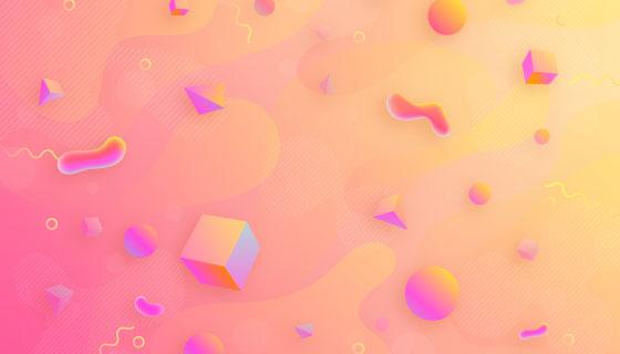 抽象几何图形渐变背景矢量素材(AI/EPS)