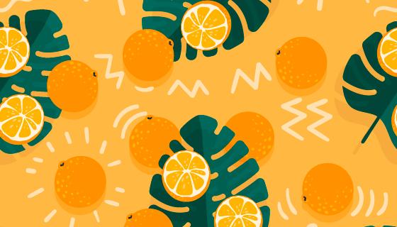 橙子图案背景矢量素材(AI/EPS)