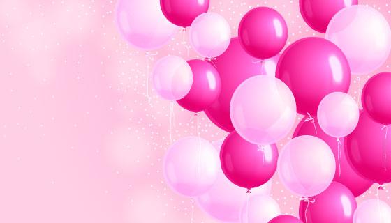 逼真的生日派对气球背景矢量素材(AI/EPS)