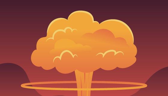 核弹爆炸效果矢量素材(AI/EPS)