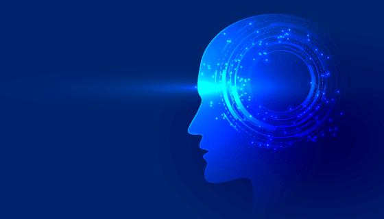 科技大脑人工智能背景矢量素材(EPS)