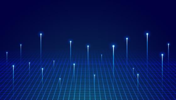 大数据可视化科技背景矢量素材(EPS)