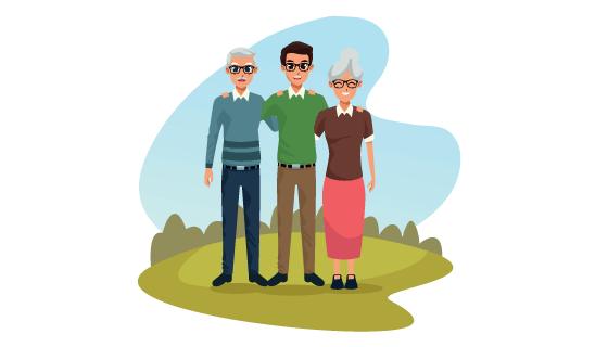 卡通风格家庭照片矢量素材(EPS/PNG)