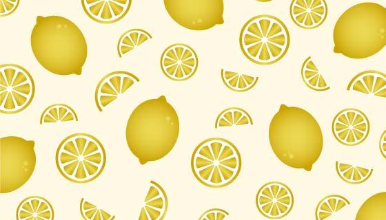 清新柠檬图案背景矢量素材(EPS/PNG)