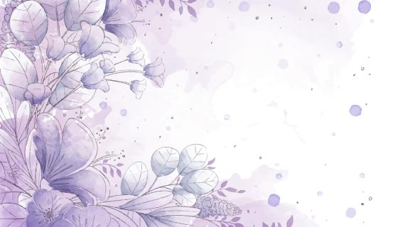 紫色水彩花卉背景矢量素材(AI/EPS)