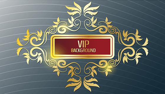 金色和银色VIP设计矢量素材(EPS)