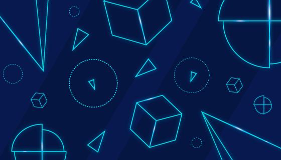 几何图形背景矢量素材(AI/EPS)
