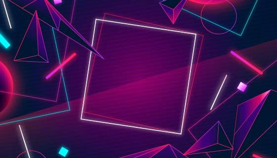 抽象立体几何图案背景矢量素材(AI/EPS)