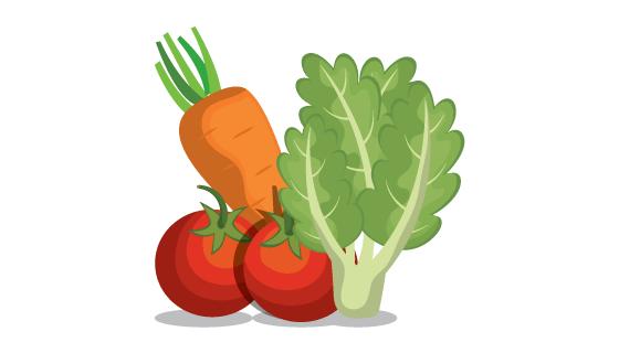 扁平风格蔬菜矢量素材(EPS)