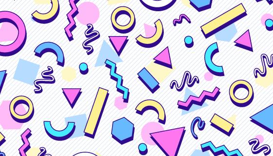 抽象多彩几何图形背景矢量素材(AI/EPS)
