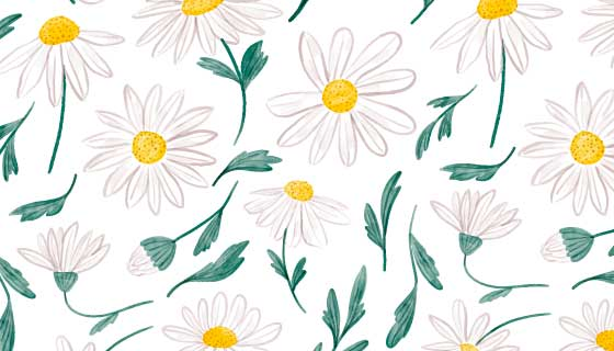 漂亮水彩花卉背景矢量素材(AI/EPS)