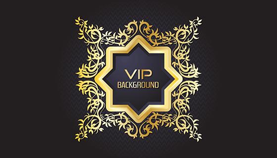 金色VIP设计矢量素材(EPS)