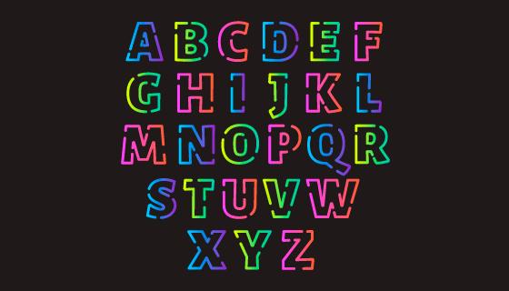 多彩渐变字母矢量素材(AI/EPS/PNG)