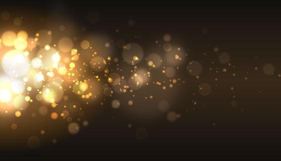 金色气泡散景背景矢量素材(AI/EPS)