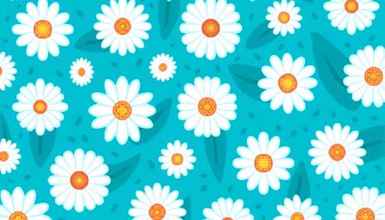 漂亮的白色菊花背景矢量素材(AI/EPS)