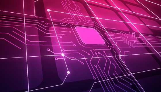 电路板设计抽象科技背景矢量素材(AI/EPS)