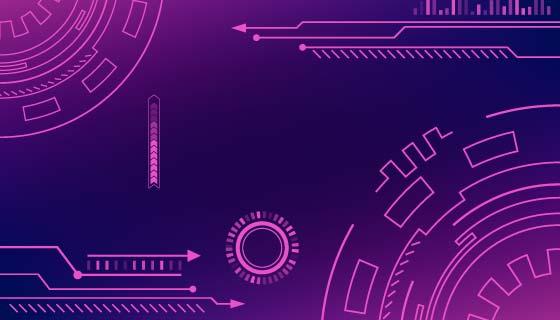 紫色抽象科技背景矢量素材(AI/EPS)