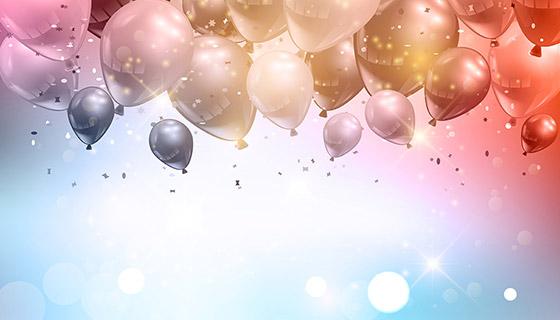 气球庆祝背景矢量素材(EPS)
