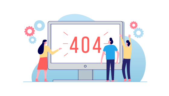 扁平404页面设计矢量素材(AI/EPS/PNG)