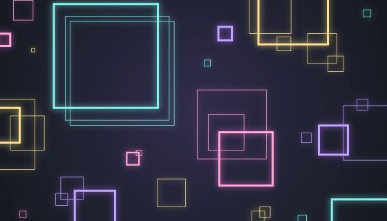 霓虹灯正方形抽象背景矢量素材(AI/EPS/PNG)