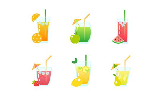 可爱的果汁矢量素材(EPS/AI)