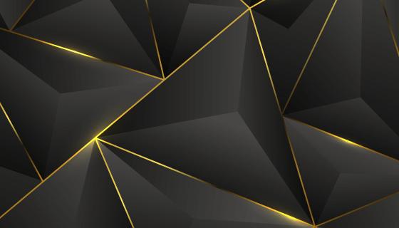 抽象黑金色背景矢量素材(AI/EPS)