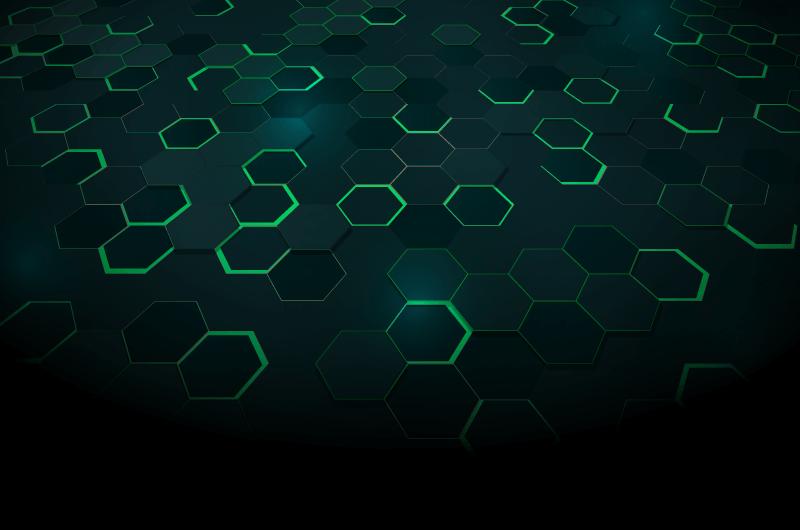 绿色蜂窝科技背景矢量素材(AI/EPS)