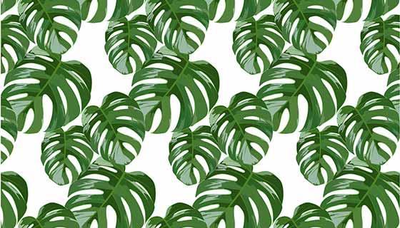 绿叶图案背景矢量素材(EPS)