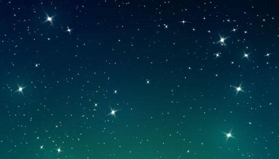 渐变星空背景矢量素材(AI/EPS)