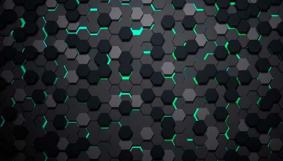 抽象蜂窝背景矢量素材(AI/EPS)