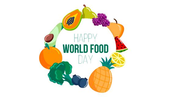 水果环绕世界粮食日矢量素材(AI/EPS/PNG)