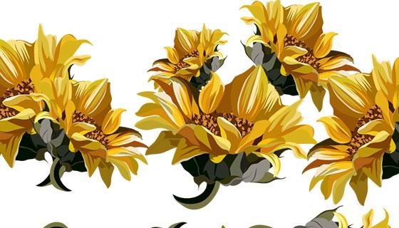 黄色花卉背景矢量素材(EPS)