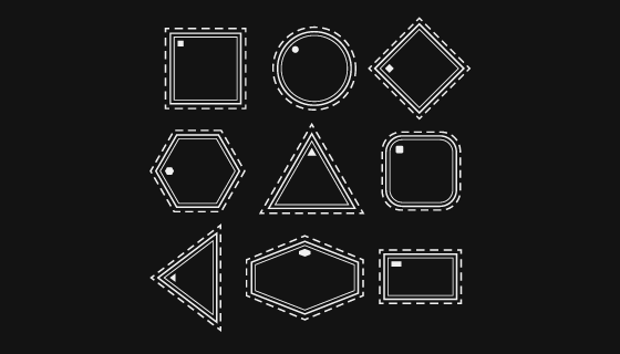 白色几何线条矢量素材(AI/EPS/PNG)