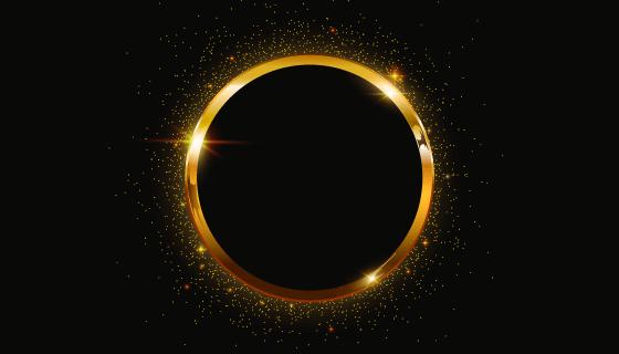 圆形金色边框矢量素材(AI/EPS/PNG)