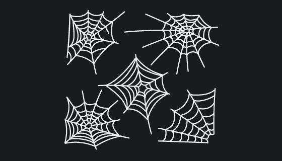 手绘风格蜘蛛网矢量素材(AI/EPS/PNG)