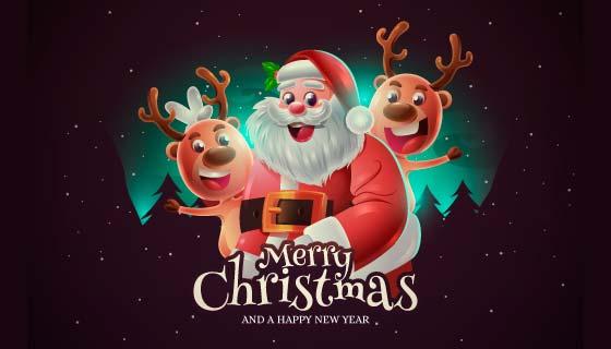 逼真的圣诞老人背景矢量素材(AI/EPS)