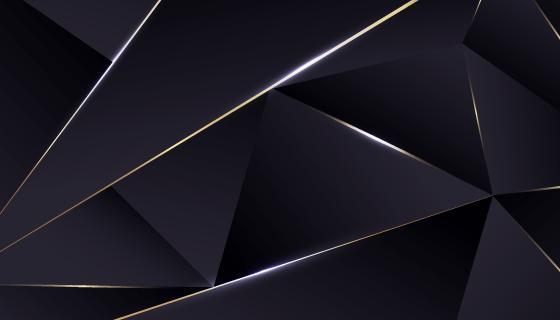 奢华的黑色多边形背景矢量素材(AI/EPS)