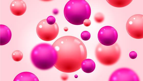 流动的光滑的球体背景矢量素材(AI/EPS)