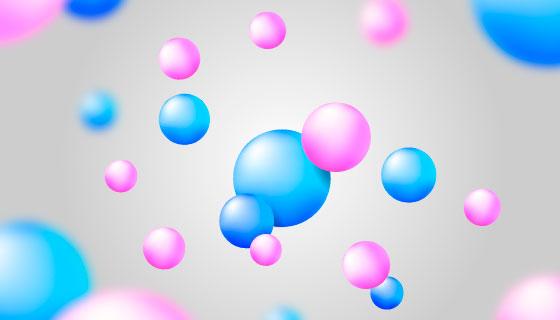 流动的光滑球体背景矢量素材(AI/EPS)