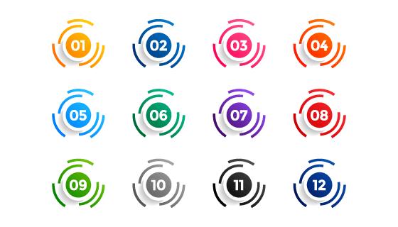 圆环项目符号矢量素材(eps)