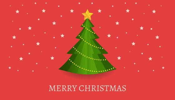 扁平风格圣诞树背景矢量素材(AI/EPS/PNG)
