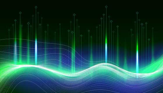 抽象大数据概念背景矢量素材(AI/EPS)