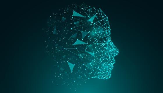 人工智能人脸背景矢量素材(AI/EPS)
