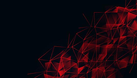 红色低多边形网格背景矢量素材(EPS)