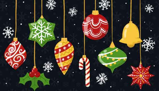 装饰品设计圣诞节背景矢量素材(AI/EPS/PNG)