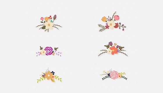 6款花卉插图矢量素材(EPS)