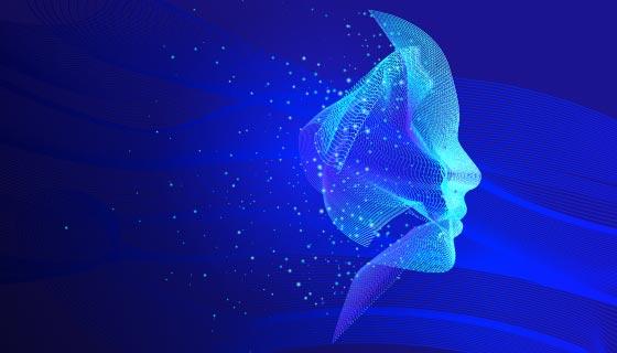 创意科技人脸背景矢量素材(AI/EPS)
